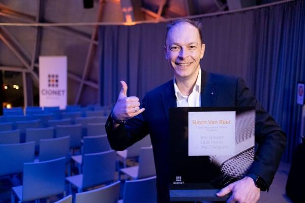 CIONET Belgium - What's Next 2019 - Annual Event - Bjorn van Reet - Speaker of the Year