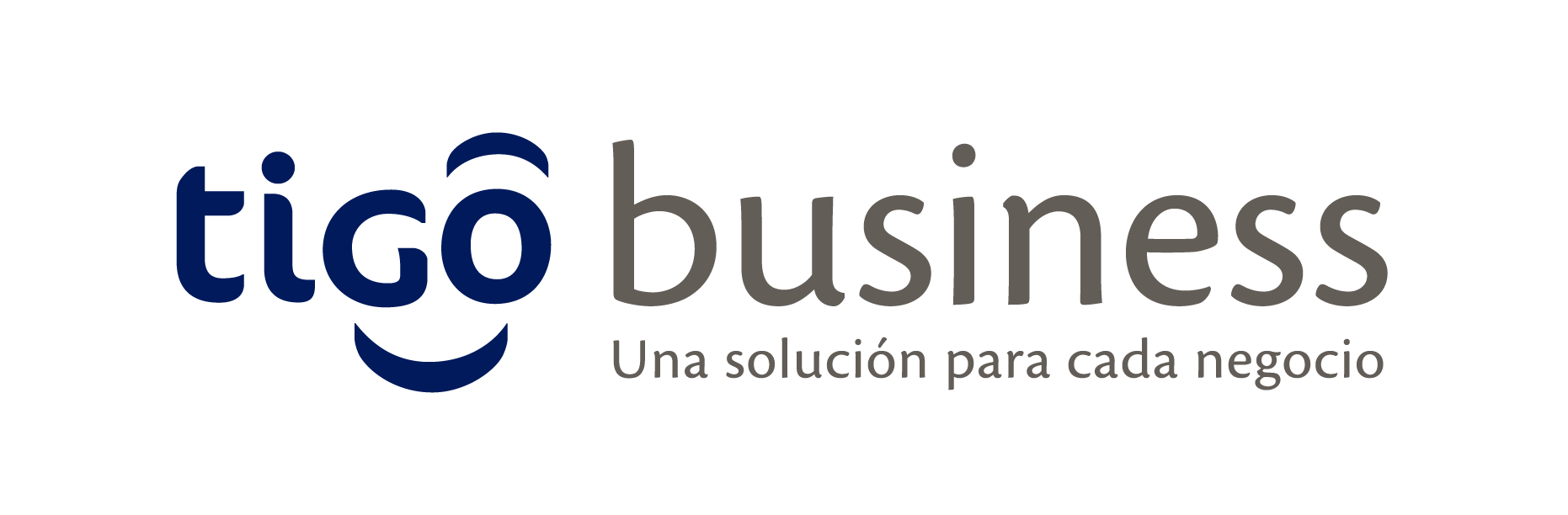 Logo tigo business pleca blanco
