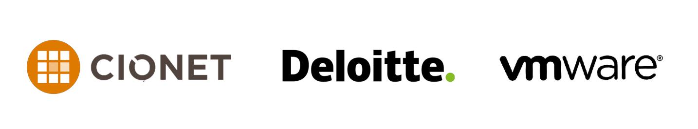 logo CIONET DELOITTE VMWARE